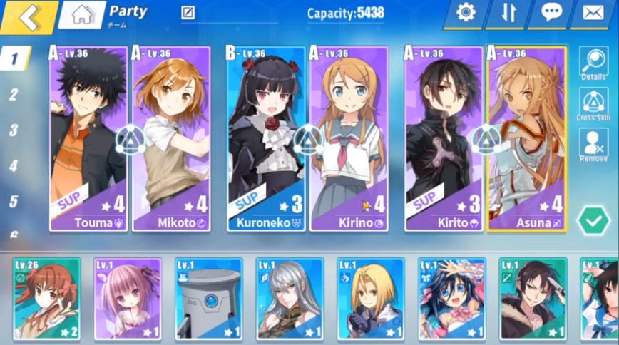 Crossing Void Tier List – Asuna with yuuki or miyuki sup or kirito.